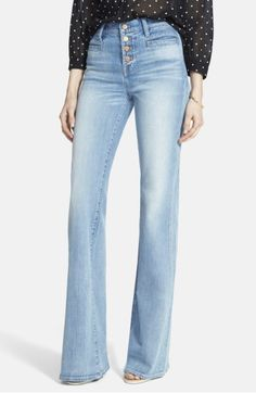 Main Image - Madewell 'Flea Market Flare' Button Front Jeans (Joan)