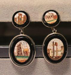 Grand Tour Micromosaic Earrings Colosseum Roman Forum Micro Mosaic 1850 | eBay