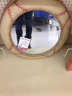 Baseball Mirror From Hobby Lobby :). Baseball Bathroom DecorSports ...