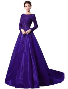 Clearbridal Women's Long Sleeve Ball Gown Prom Dress Evening Gown CLX045: Amazon Fashion