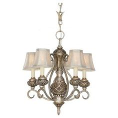 Sea Gull Lighting, Highlands 5-Light Palladium Single Tier Chandelier, 30251-824 at The Home Depot - Mobile master bedroom