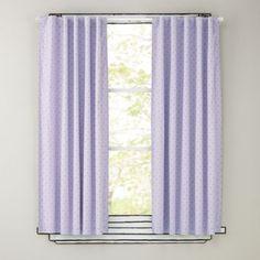 "63"" Lavender Polka Dot Curtain Panels  | The Land of Nod"