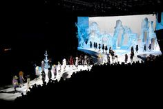 whimsical set for the Marc Jacobs Collection Fall 2012 runway show during New York Fashion Week