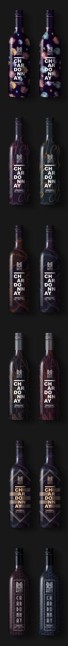 Roger Malls wine bottles by Thømas Adnet