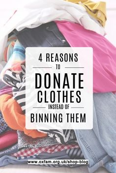 A guest blog from our friends at Love Your Clothes on why donating to charity is a win-win-win-win It happens. Sometimes you fall out of love with your clothes – even outfits you once lived in. But before you get rid, it's worth thinking about what's best to do with them.  Donating clothing to charity is one of many sustainable alternatives to binning them, along with sharing, swapping and selling. Here are four reasons why you might want to join them… Sustainable Environment, Sustainability, Ministering Lds, Clothes Donation, Charitable Giving, Donate To Charity, Community Service, Motivation, Slow Fashion