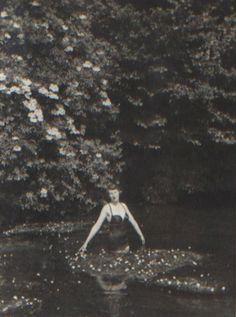 Ursula Longstaff Longstaff swimming under the elderflower blossom Family Album, Elderflower, Ursula, Photo Archive, British Style, Great Britain, Devil, Swimming, Modern