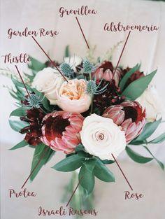 Protea Wedding, Silk Wedding Bouquets, Rustic Wedding Flowers, Bride Bouquets, Bridal Flowers, Flower Bouquet Wedding, Bridesmaid Bouquet, Floral Wedding, Wedding Beach