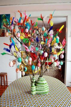 need to make one asap! Paskris: A Swedish Easter Tree Aunt Peaches apartment therapy