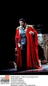 OTELLO by Giuseppe Verdi<br>Royal Opera 10/92<br>PLACIDO DOMINGO<br>Conductor: Georg Solti<br>Director: Elijah Moshinsky<br>©ArenaPal / Topham / The Image Works