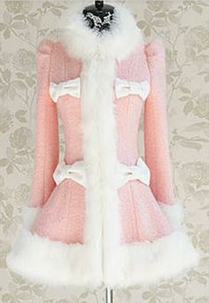 Sweet Pink Bow Coat