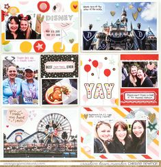 Disneyland Pocket Page - Scrapbook.com