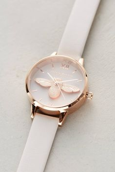 Tove Leather Bee Watch | Anthropologie