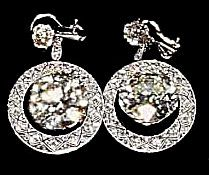 Imelda Marcos' 10 carat diamond earrings