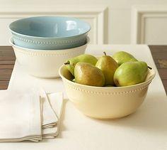 I love the Emma dinnerware pattern! Emma Serve Bowl #potterybarn
