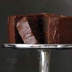 Chocolate Layer Cake recipe from Rachel Ray Best Chocolate Desserts, Vegetarian Chocolate, Just Desserts, Delicious Desserts, Chocolate Cakes, Chocolate Heaven, Chocolate Chocolate, Homemade Chocolate, Chocolate Lovers
