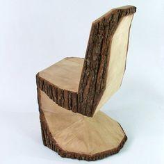 Fancy - Hobby Panton chair by Peter Jakubik Wood Log Crafts, Log Stools, Panton Chair, Wood Trunk, Wood Furniture, Garden Furniture, Street Furniture, Chair Design, Tree Chair