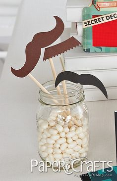 Mustache Baby Bash - links to patterns for mustache on a stick!