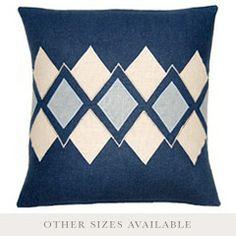 Argyle Blue & Wedgewood Throw Pillow SFARGBLUWEDGE