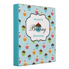 Shop Personalized Cupcakes Recipe Binder created by whimsydesigns. Personalised Cupcakes, Personalized Gifts, Cupcake Recipes, Baking Recipes, Yummy Recipes, Recipe Holder, Mini Binder, Perfect Planner, Recipe Binders