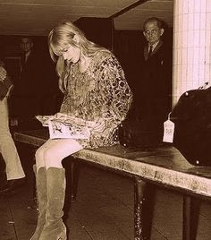 Marianne Faithfull.  a bad ass, rock'n'nroll chick.
