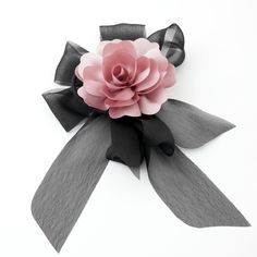 Details about Handmade Black Chiffon Bow Flower Floral Ponytail Holder Velvet Bow Tie, Velvet Hair, Lapel Flower, Flower Brooch, Wedding Chair Bows, Brooch Corsage, Hair Band For Girl, Bow Template, Scarf Jewelry