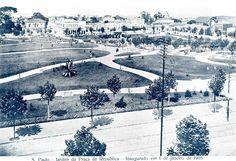 1905 - Jardim da Praça da República - Lado Raro - Revistas Kosmos - Luiz Francisco Moniz Figueira