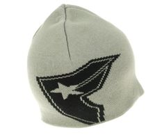 Famous Stars and Straps Men's Giant Badge Beanie Hat, Grey/Black, One Size