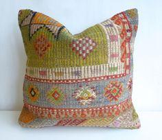 Colorful Bohemian Kilim Pillow Cover