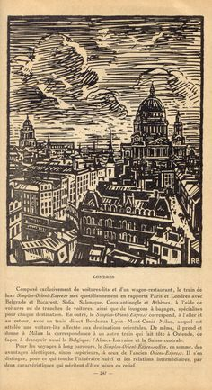 London vintage woodcut illustration WOW