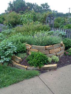 Herbal Spiral 2013. Gardens at Gantz Farm in Grove City, OH