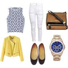 A fashion look from March 2015 featuring crop tops, zip jacket and white high waisted jeans. Browse and shop related looks. White High Waisted Jeans, High Waist Jeans, Vince Camuto, Givenchy, Alexander Mcqueen, Christian Louboutin, Fashion Looks, Crop Tops, Polyvore