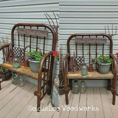 How about having repurposed garden decorations for this year garden? There are f… How about having repurposed garden decorations for this year garden? There are few DIY repurposed ideas here for your garden decoration. Furniture Projects, Furniture Makeover, Wood Projects, Diy Furniture, Plywood Furniture, Furniture Stores, Garden Furniture, Office Furniture, Furniture Websites