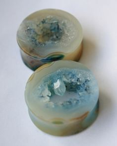 1 1/8 Agate Geode Plugs by AEOrganics on Etsy, $115.00
