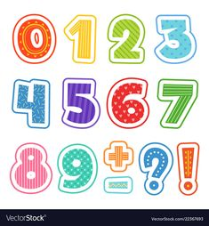 Numbers of the alphabet math cartoon numbers colored fun alphabet for school kids vector text illustrations . Numbers For Kids, Math Numbers, Alphabet And Numbers, Owl Vector, Kids Vector, Math Figures, Alphabet School, Cliparts Free, Math Cartoons