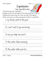 math worksheet : 1000 images about capitalization on pinterest  worksheets  : Capital Letter Worksheets For Kindergarten