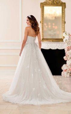 Courtesy of Stella York wedding dresses; 6684 Dreamy A-Line Wedding Dress by Stella York Wedding Gown Ballgown, Wedding Dress Organza, Open Back Wedding Dress, Perfect Wedding Dress, Tulle Wedding, Bridal Gowns, Mermaid Wedding, Tulle Gown, Sincerity Bridal