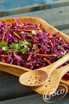 Tangy, citrusy coleslaw makes a great side dish or garnish. For an extra bite, just add cilantro and jalapeno peppers.  #CreativeClassics #Crisco