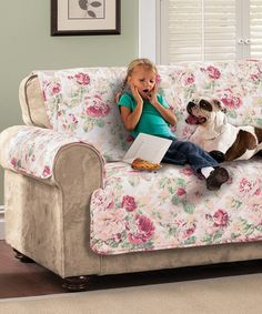 This Tea Rose English Floral Furniture Protector is perfect! #zulilyfinds
