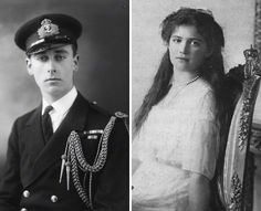 """Lord Louis Mountbatten and cousin Maria Romanov. It is said the young prince was in love with his pretty cousin and was """"determined to marry her"""". He kept a photo of her at his bedside until his own assassination in 1979!"""