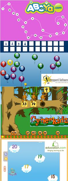 Links to online games for number recognition to 20.  Great for interactive white boards!