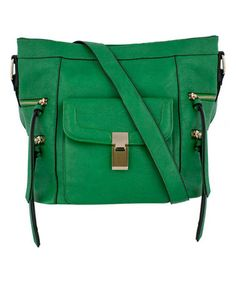 b531888bff Look at this Melie Bianco Green Clarissa Messenger Bag on today!