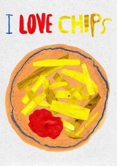 I LOVE CHIPS. print