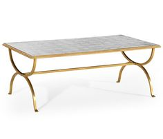 Églomisé & gilded iron coffee table