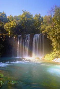 Duden Water Falls Antalya Turkey Canvas Art - Carson Ganci Design Pics x Antalya, Beautiful World, Beautiful Places, Amazing Places, Places To Travel, Places To See, Turkey Travel, Beautiful Waterfalls, Wonders Of The World