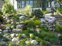 Charming Hillside Rock Garden