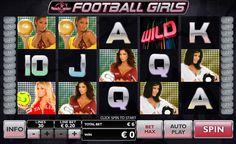 Hurra Fussball! Spiele den auch mit Mädels im Football Girls #Spielautomat von #Playtech online!