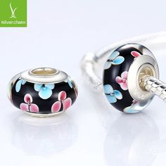 925 Sterling Silver DIY Murano Glass Beads Fit Pandora Bracelet Bangles Charms For Women Original European Jewelry ALX-SCJS ALX-SCJS