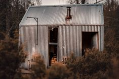 The beautiful tin exterior of The Bothy Project in Highland, Scotland