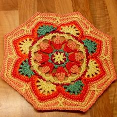 Tile 5, Persian Tiles Eastern Jewels #crochet #crochetblanket #persiantiles #persiantileseasternjewels #easternjewels #romanaiseasternjewels