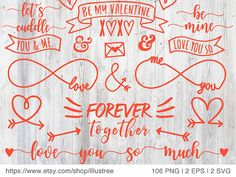 106 Valentine's day digital clip art for cards red by Illustree